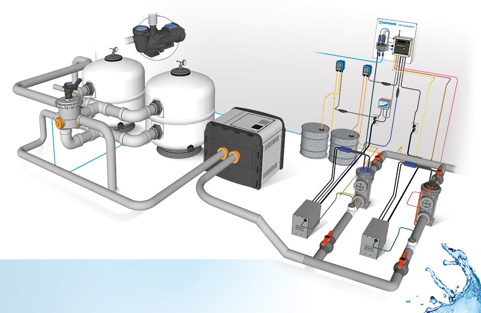 Hendese m hendislik pool systems - Swimming pool plumbing system design ...